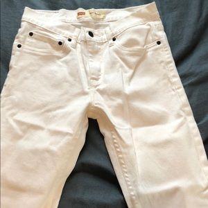 Levi 510 Skinny 28 White